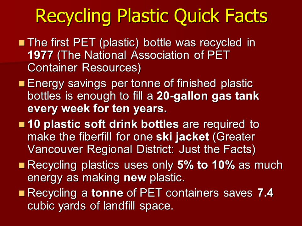 Recycling Plastic Quick Facts