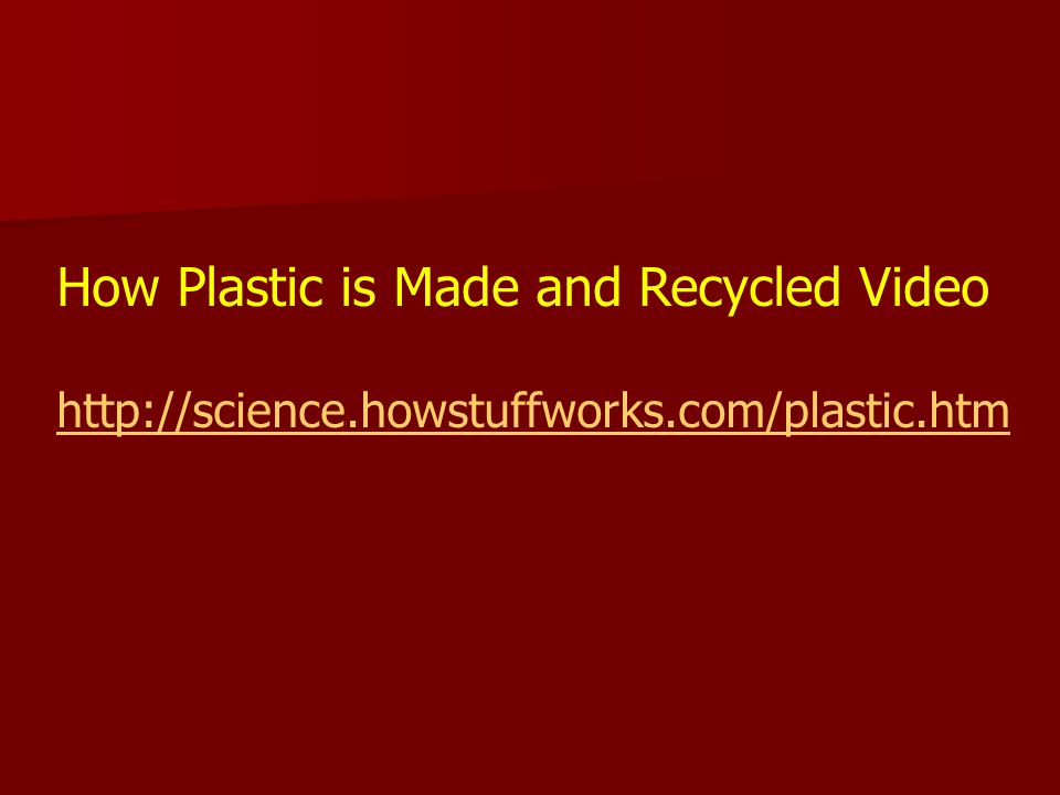 How Plastic is Made and Recycled Video