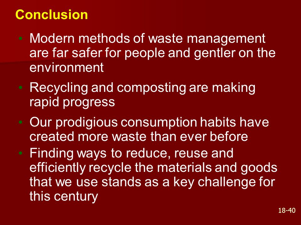 Recycling and composting are making rapid progress