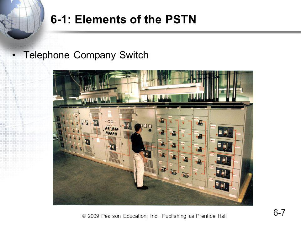 6-1: Elements of the PSTN Telephone Company Switch