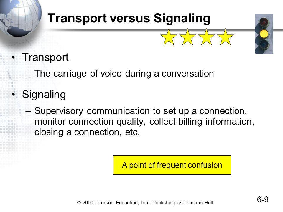 Transport versus Signaling