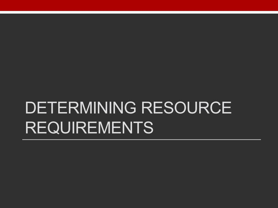 Determining resource requirements