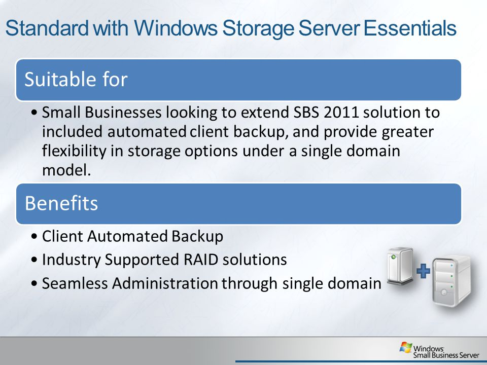 Standard with Windows Storage Server Essentials