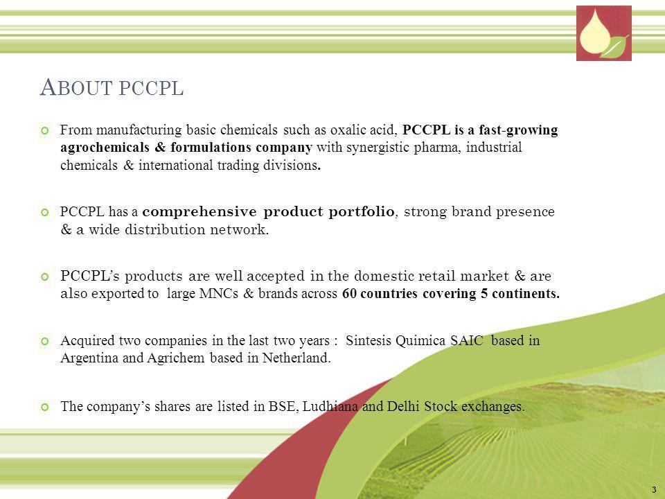 About pccpl