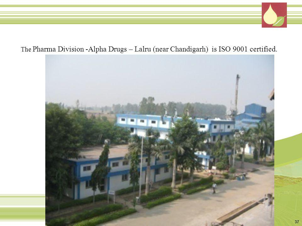 The Pharma Division -Alpha Drugs – Lalru (near Chandigarh) is ISO 9001 certified.