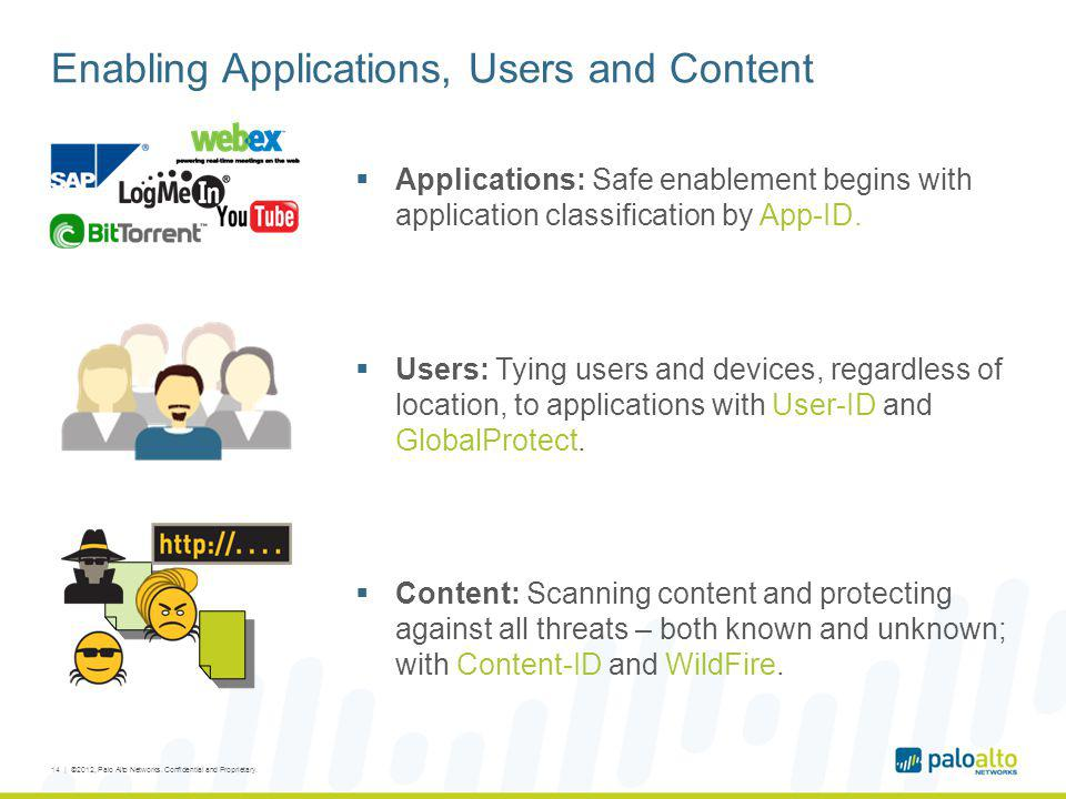 Enabling Applications, Users and Content