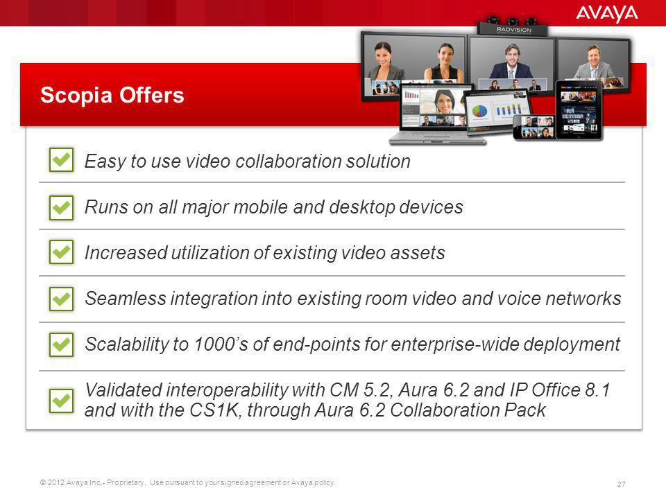 Scopia Offers Easy to use video collaboration solution