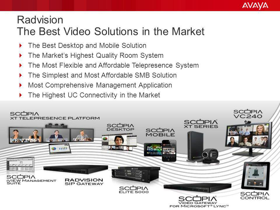 Radvision The Best Video Solutions in the Market