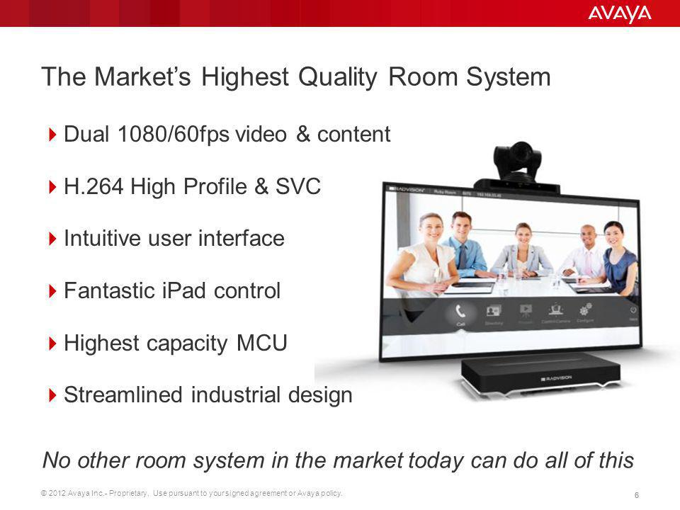 The Market's Highest Quality Room System