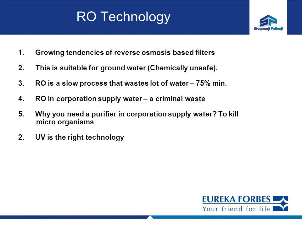 RO Technology Growing tendencies of reverse osmosis based filters