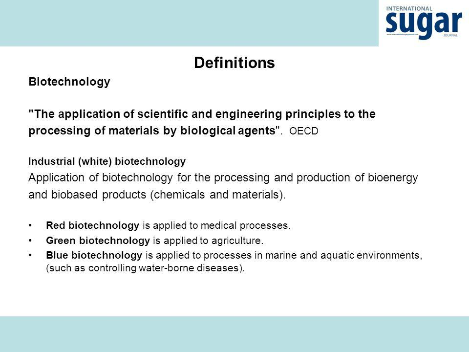 Definitions Biotechnology