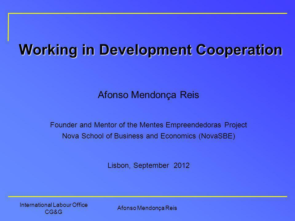 Working in Development Cooperation