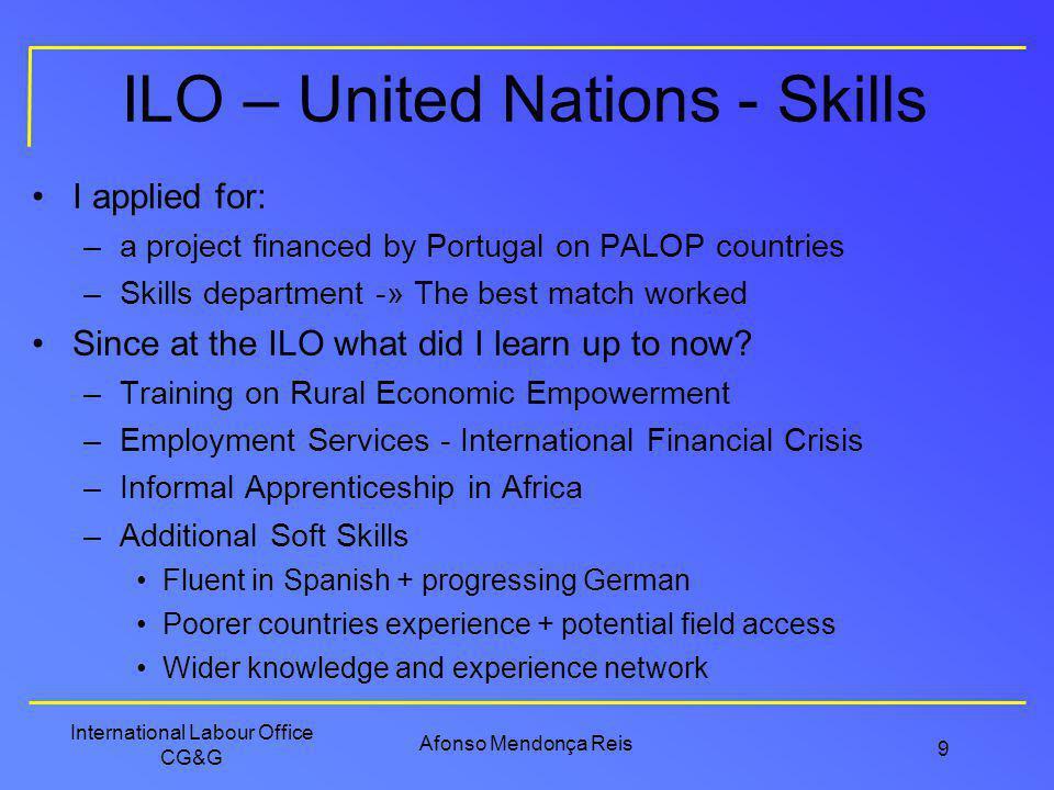 ILO – United Nations - Skills
