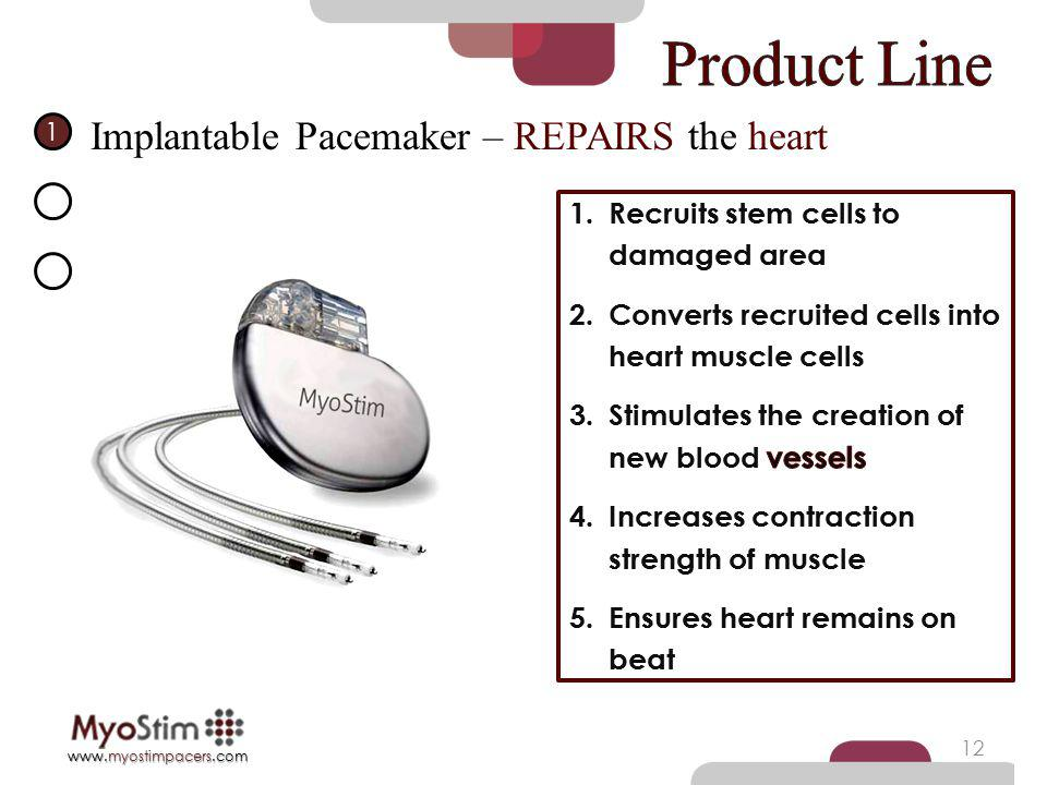 Product Line Implantable Pacemaker – REPAIRS the heart