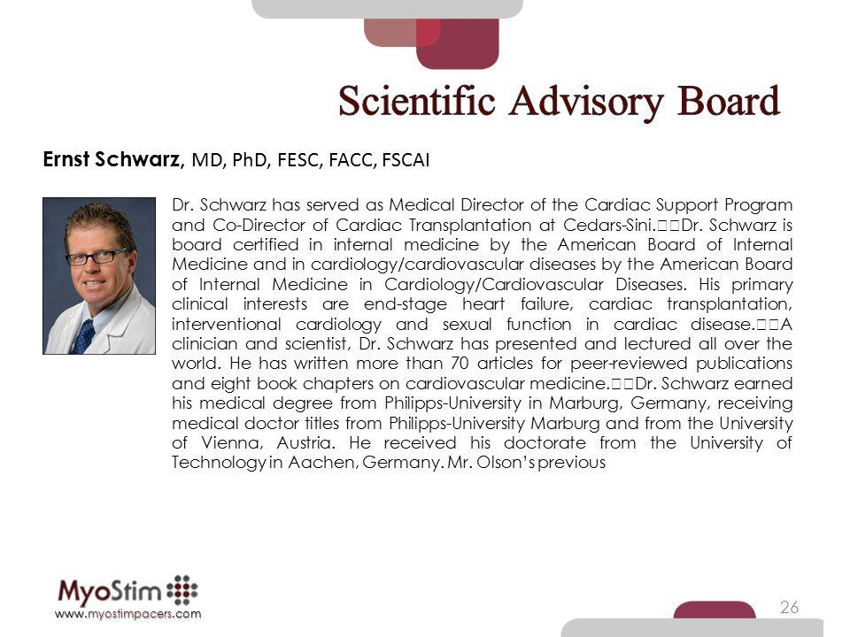 Scientific Advisory Board