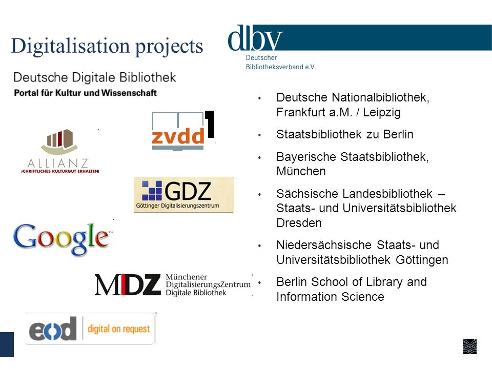 Digitalisation projects