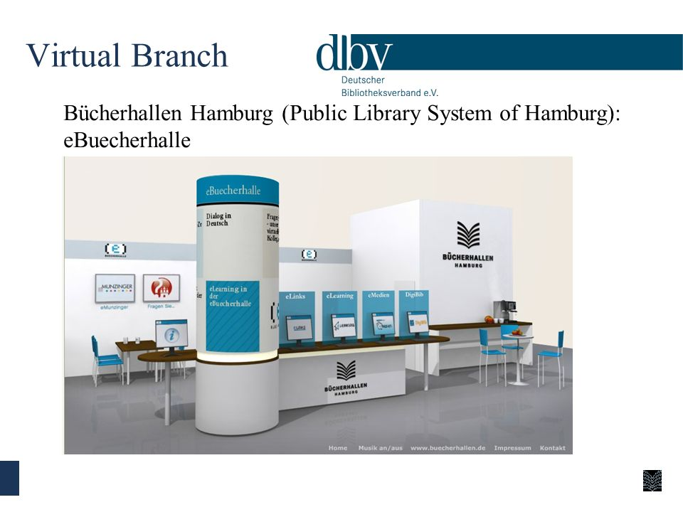 Virtual Branch Bücherhallen Hamburg (Public Library System of Hamburg): eBuecherhalle.