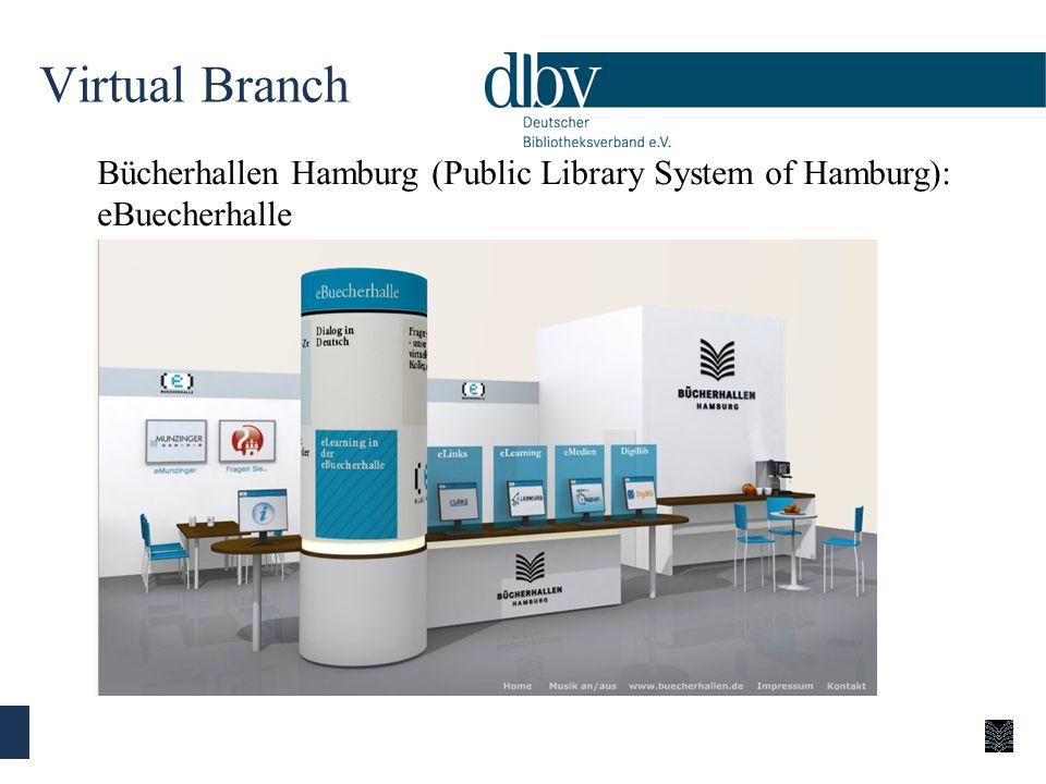 Virtual Branch Bücherhallen Hamburg (Public Library System of Hamburg): eBuecherhalle.