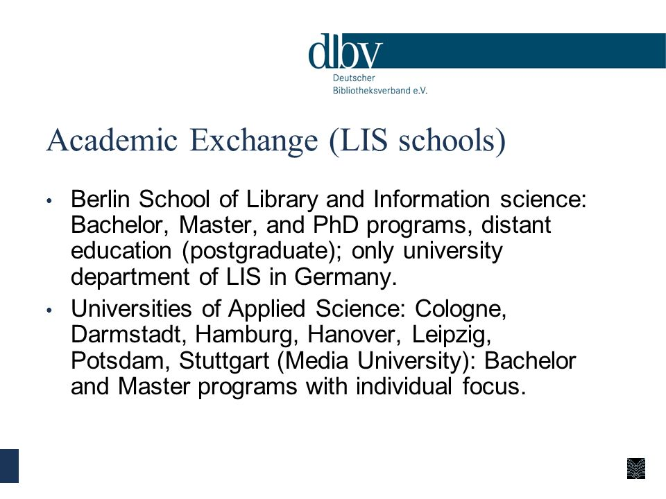 Academic Exchange (LIS schools)