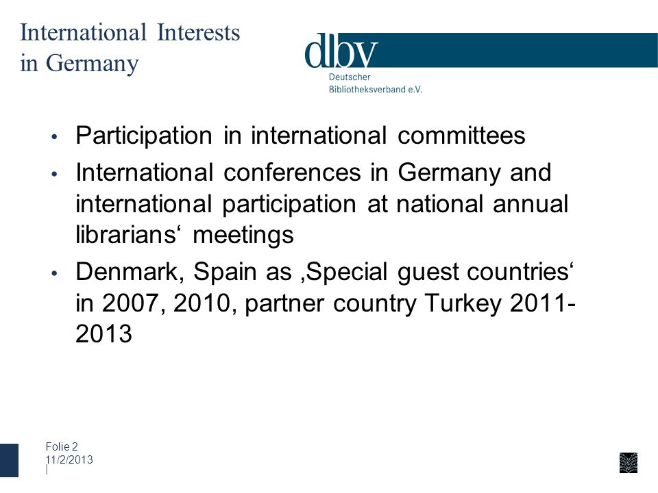 International Interests in Germany