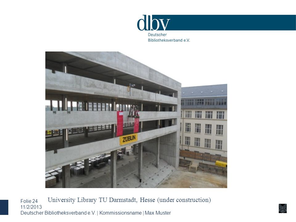 University Library TU Darmstadt, Hesse (under construction)