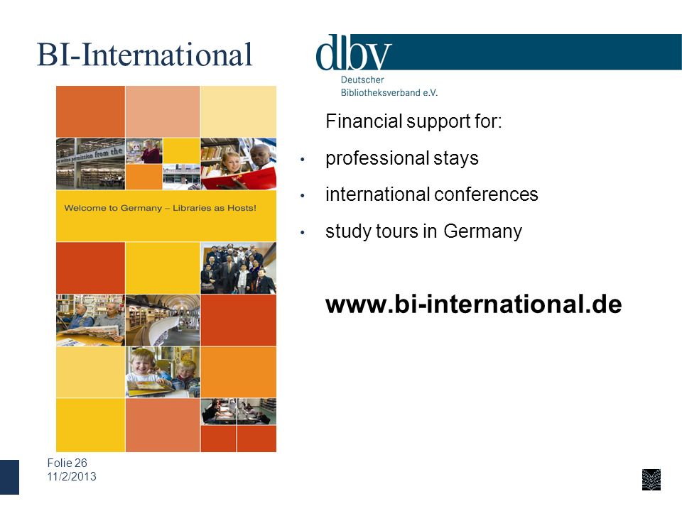 BI-International Financial support for: professional stays