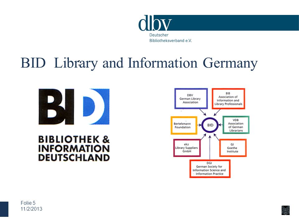 BID Library and Information Germany