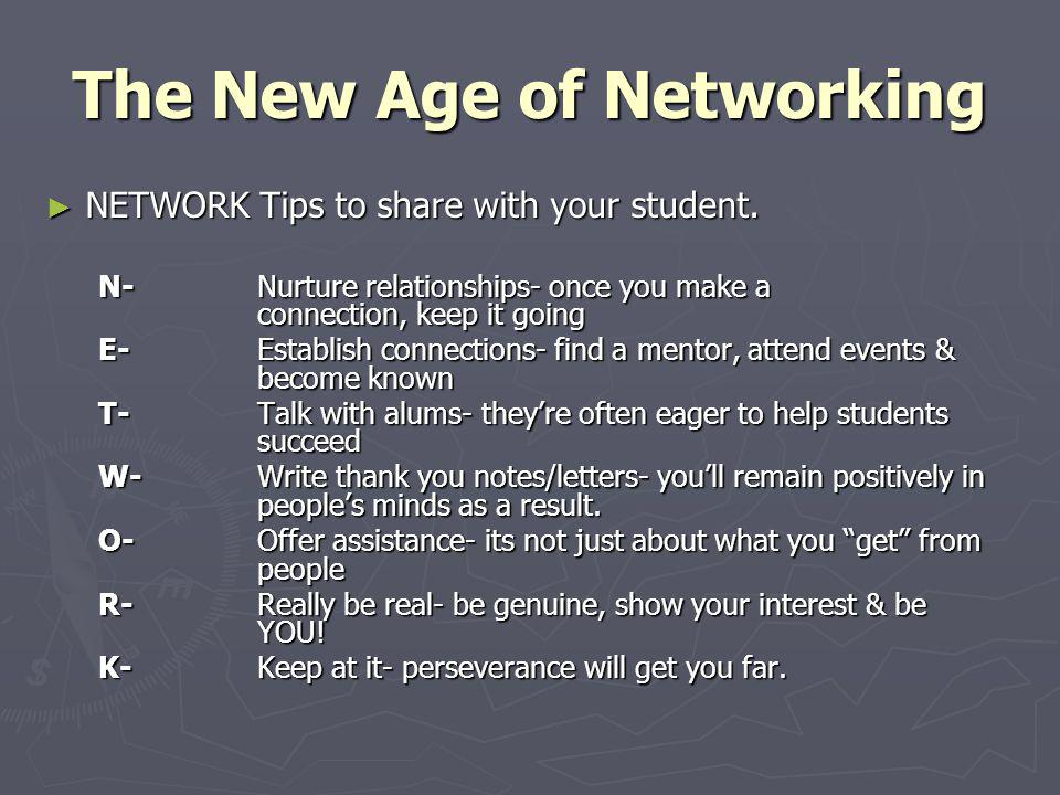 The New Age of Networking