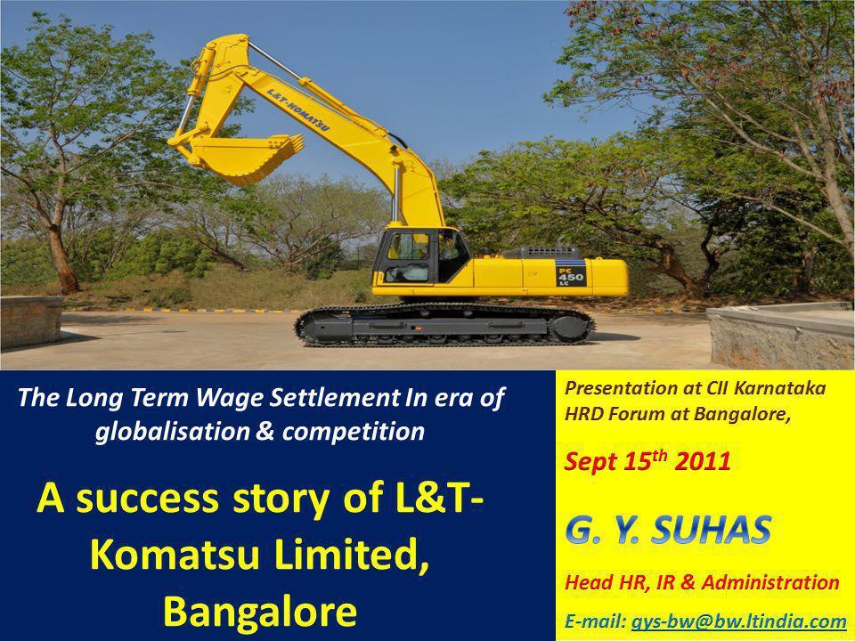 A success story of L&T-Komatsu Limited, Bangalore