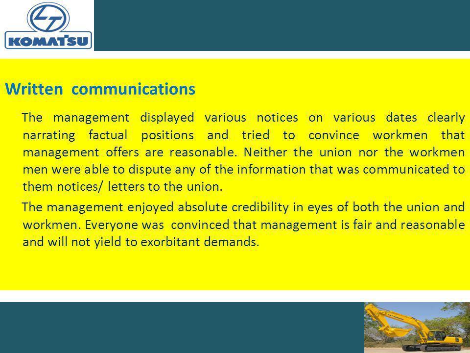 Written communications