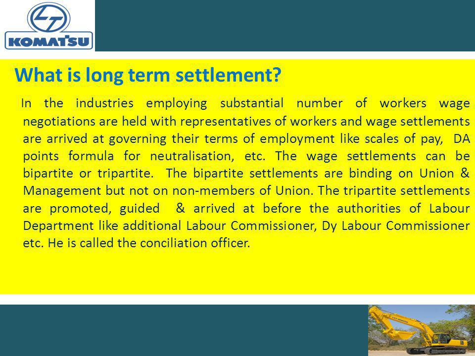 What is long term settlement