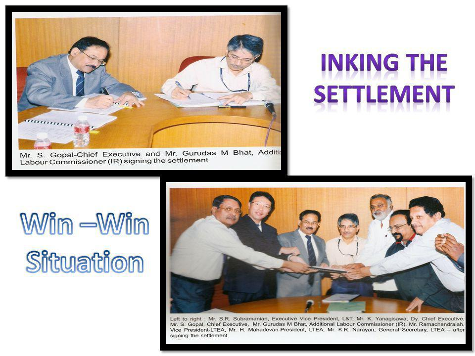 Inking the Settlement Win –Win Situation
