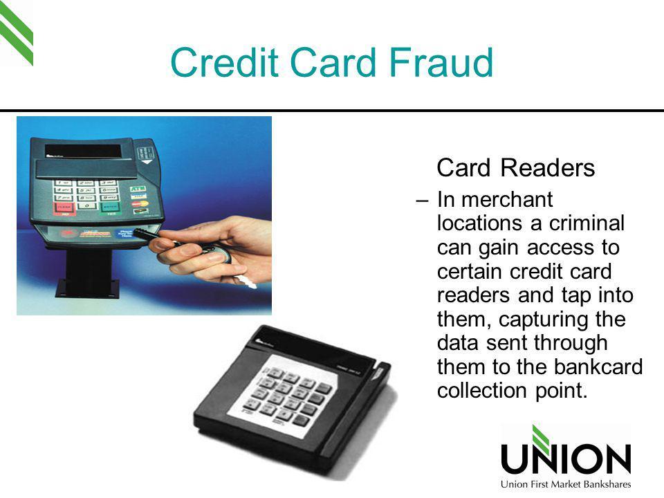 Credit Card Fraud Card Readers
