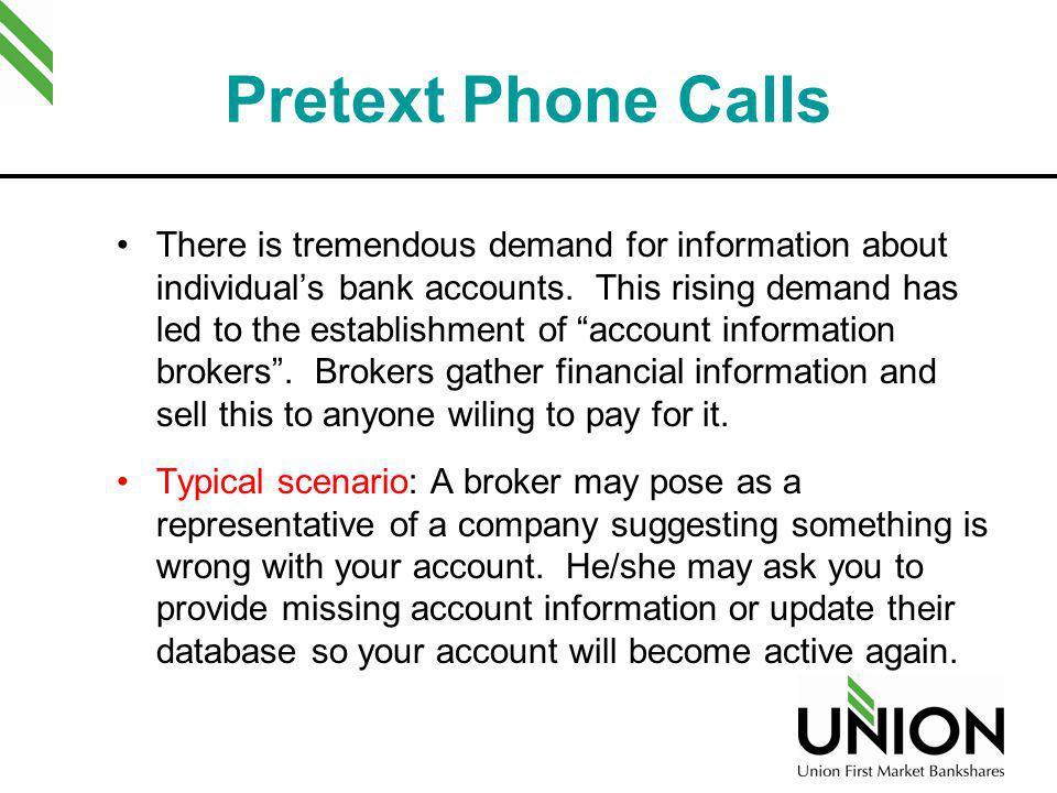 Pretext Phone Calls