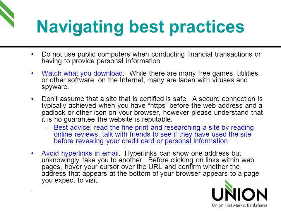 Navigating best practices