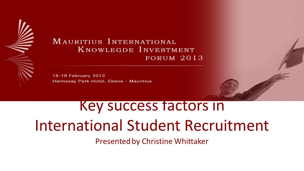 Key success factors in International Student Recruitment