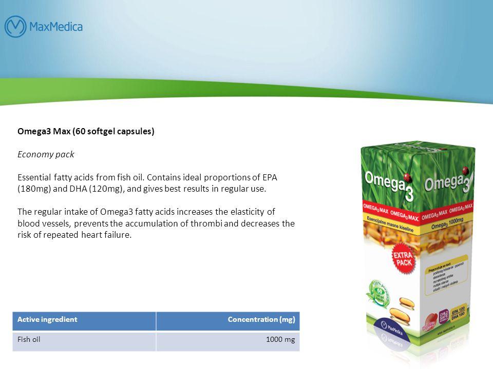 Omega3 Max (60 softgel capsules) Economy pack
