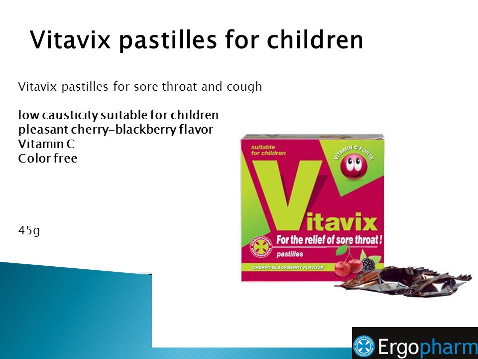 Vitavix pastilles for children