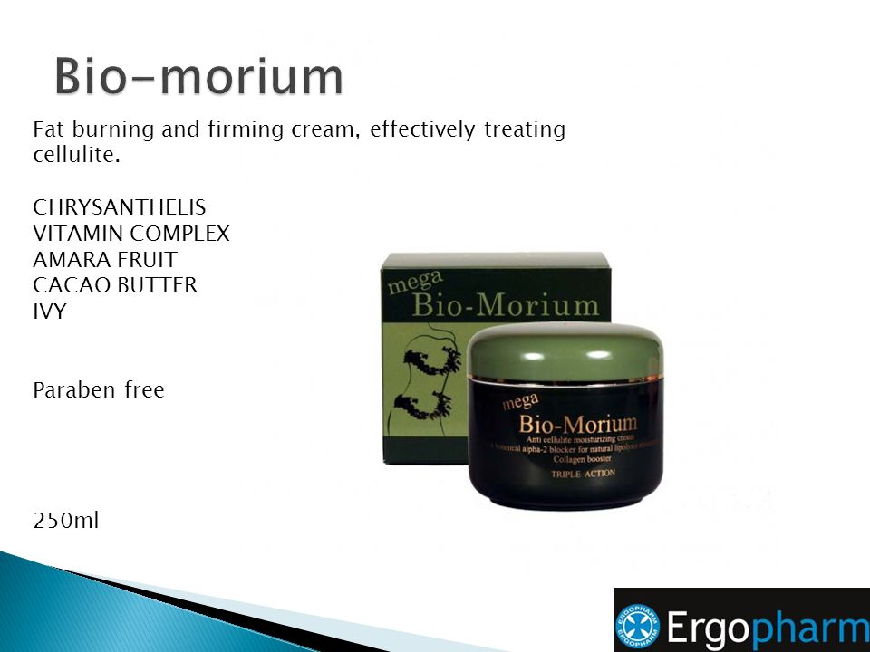 Bio-morium Fat burning and firming cream, effectively treating cellulite. CHRYSANTHELIS. VITAMIN COMPLEX.