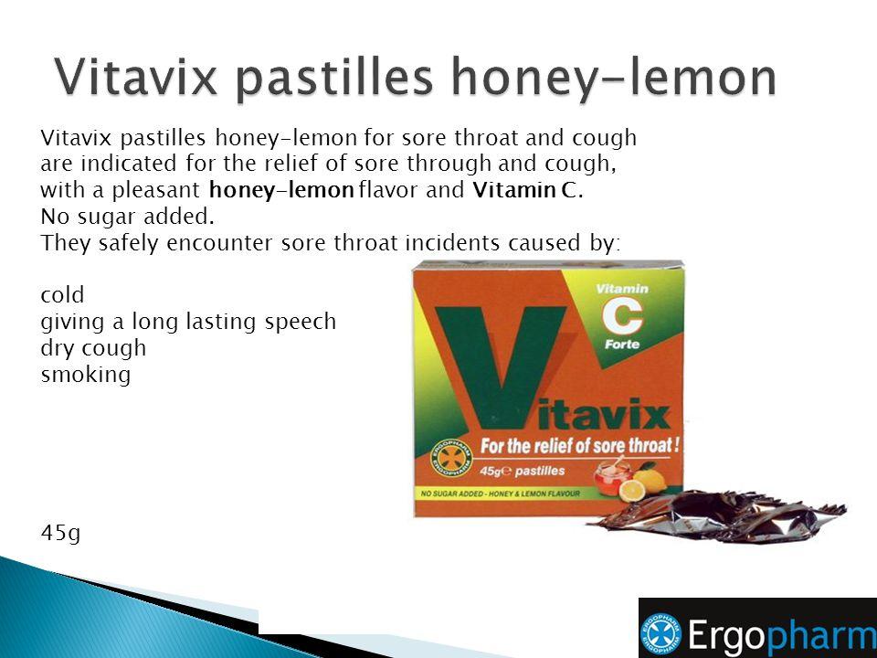Vitavix pastilles honey-lemon