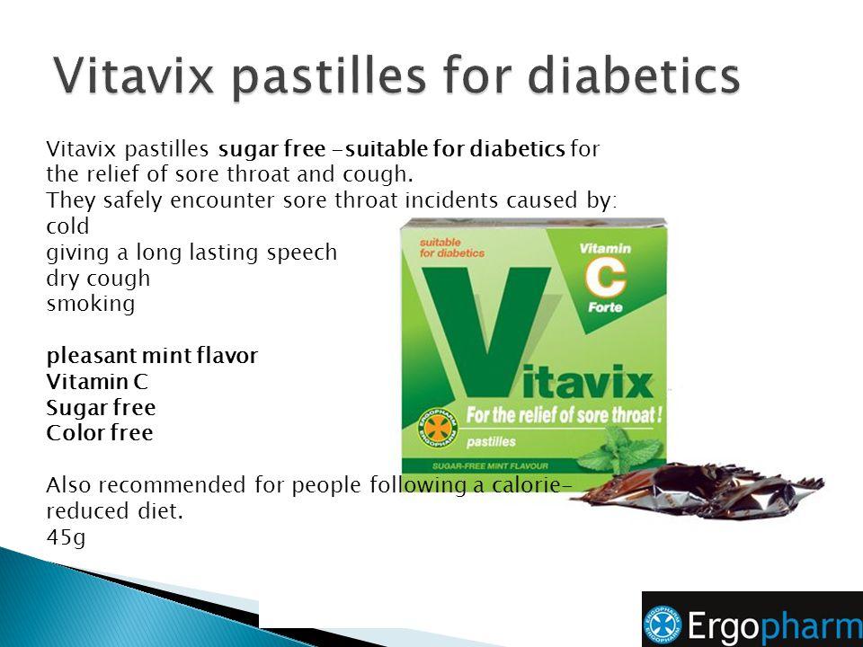 Vitavix pastilles for diabetics