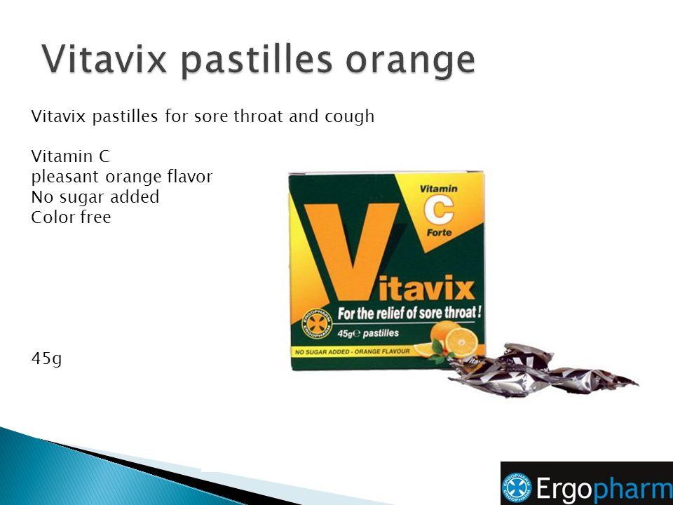 Vitavix pastilles orange