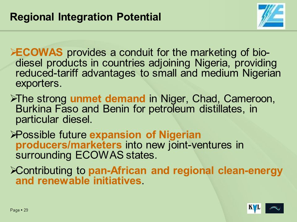 Regional Integration Potential