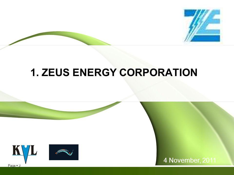 1. ZEUS ENERGY CORPORATION