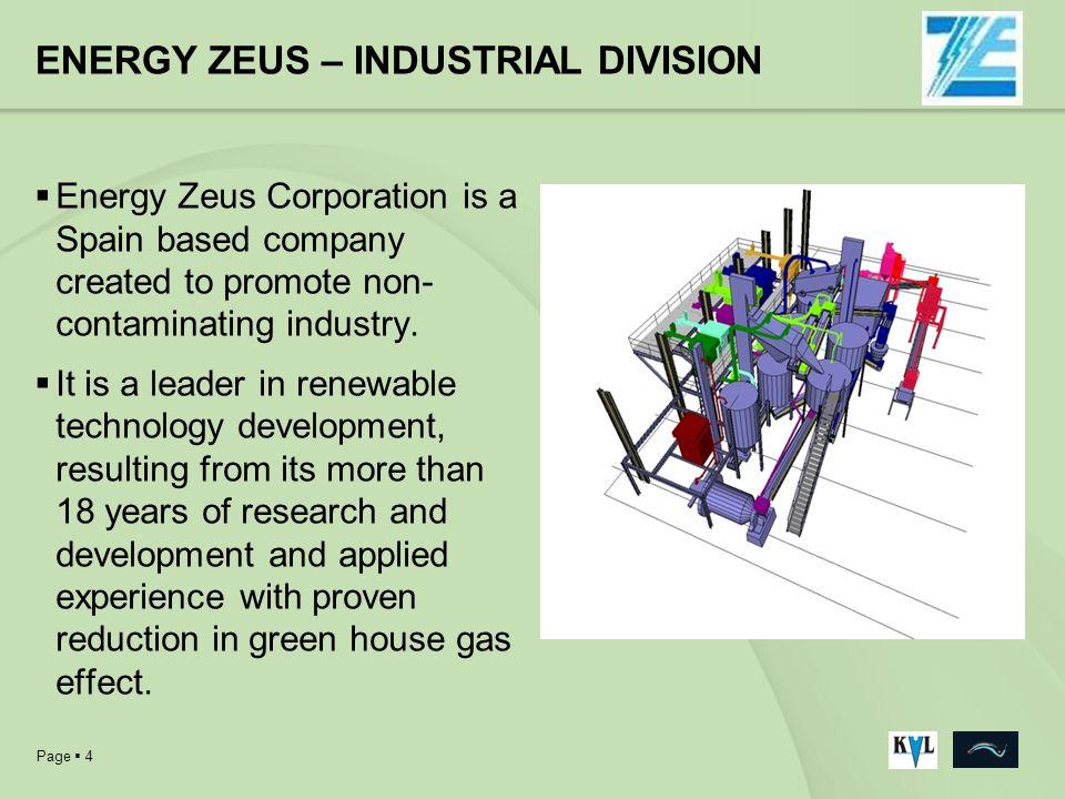 ENERGY ZEUS – INDUSTRIAL DIVISION