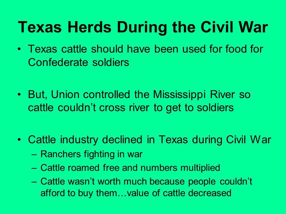 Texas Herds During the Civil War