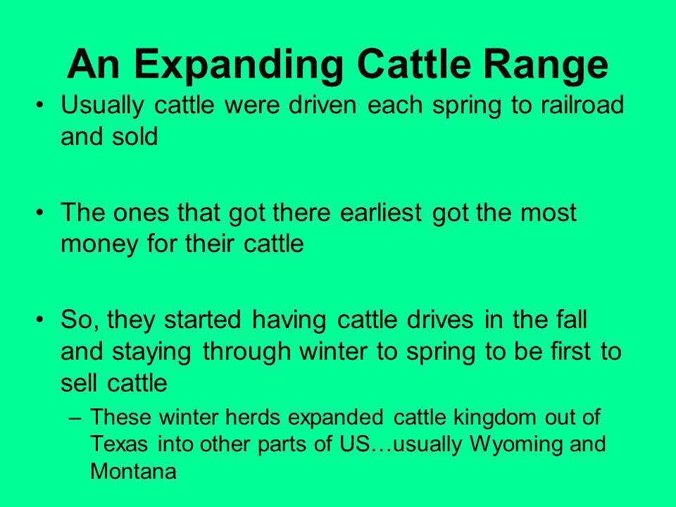 An Expanding Cattle Range