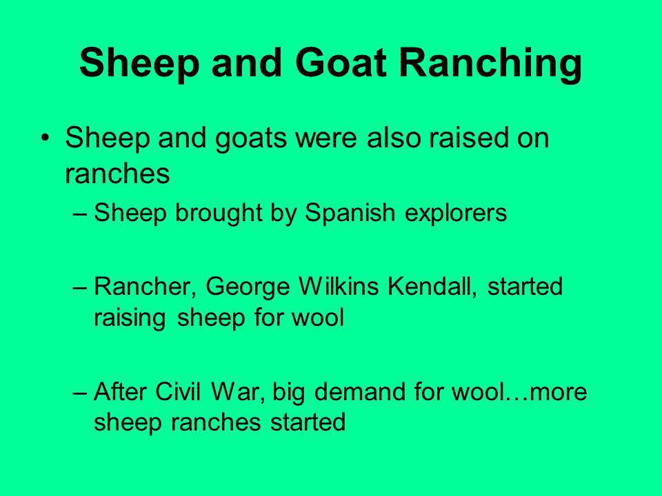 Sheep and Goat Ranching