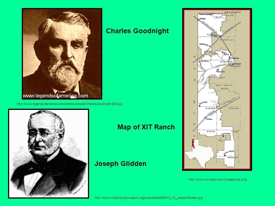 Charles Goodnight Map of XIT Ranch Joseph Glidden