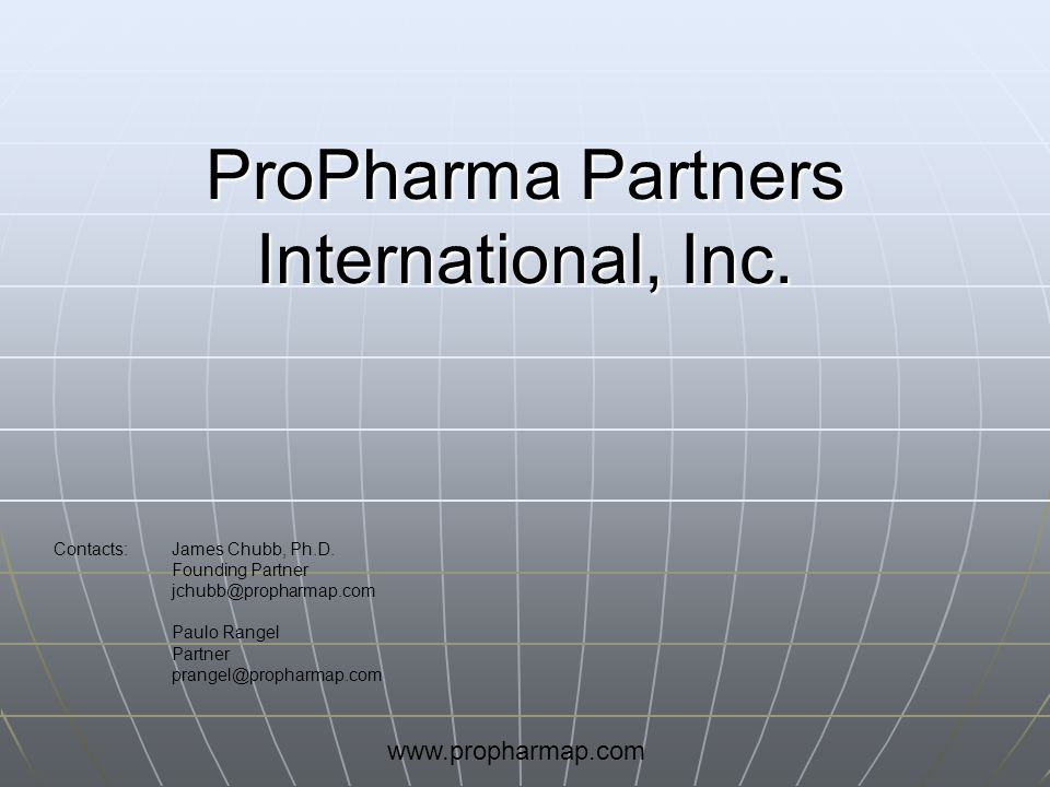 ProPharma Partners International, Inc.